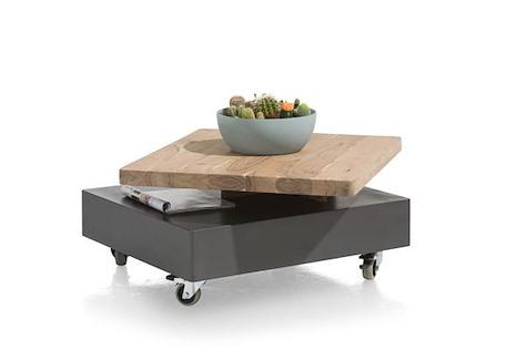 Quebec, salontafel 80 x 70 cm - draaiende top