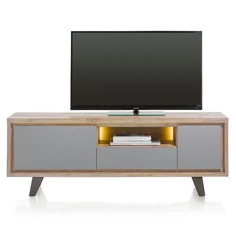 Box, lowboard 1-deur + 1-lade + 1-klep + 1-niche - 170 cm (+ LED)