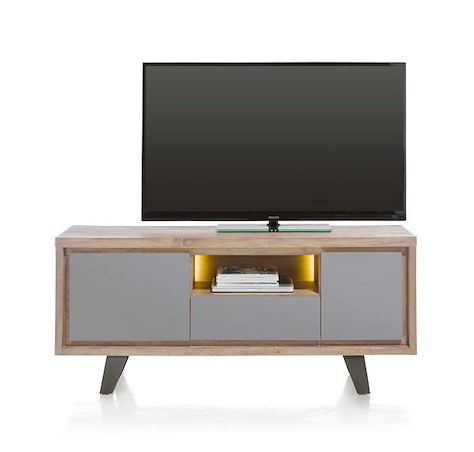 Box, lowboard 1-deur + 1-lade + 1-klep + 1-niche - 140 cm (+ LED)