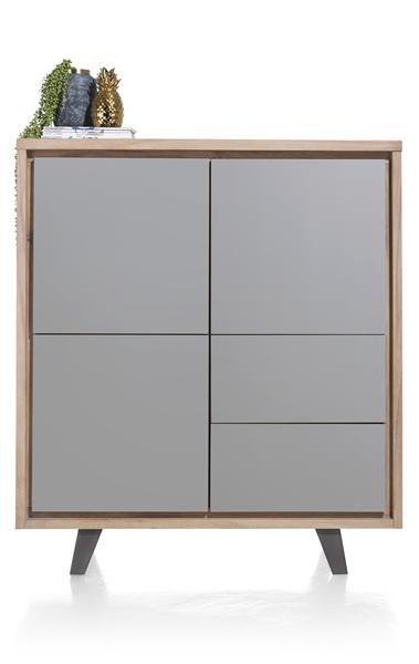 Box, bergkast 3-deuren + 2-laden - 125 cm