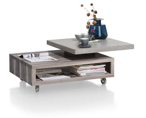 Maitre, salontafel 90 x 70 cm - met draaiblad