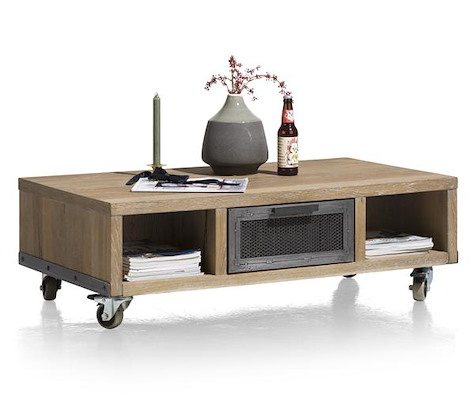 Vitoria, salontafel 110 x 60 cm + 1-lade T&T + 2 niches