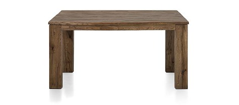 Masters, eetkamertafel 160 x 140 cm - hout 12x12/10x14