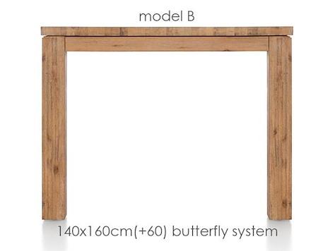 A La Carte, uitschuiftafel 160 (+ 60) x 140 cm - BEN