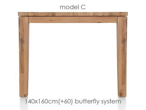 A La Carte, uitschuiftafel 160 (+ 60) x 140 cm - COR