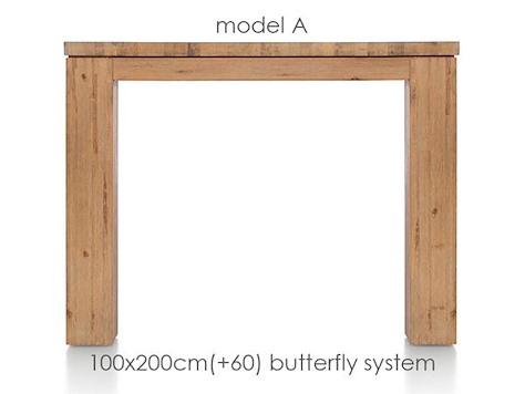 A La Carte, uitschuiftafel 200 (+ 60) x 100 cm - AAD