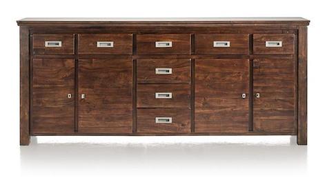 Cape Cod, dressoir 4-deuren + 8-laden - 220 cm