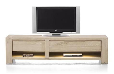 Buckley, tv-dressoir 1-lade + 2 niches + 1-klep 180 cm (+ LED)