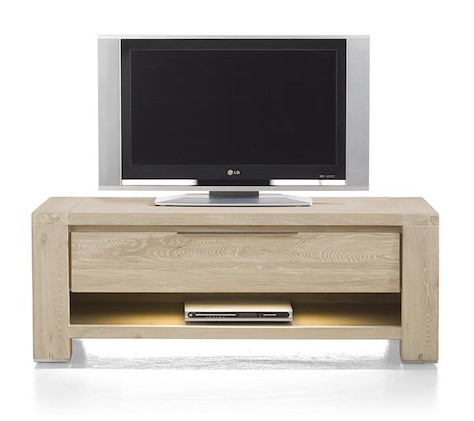 Buckley, tv-dressoir 1-lade + 1-niche 120 cm (+ LED)
