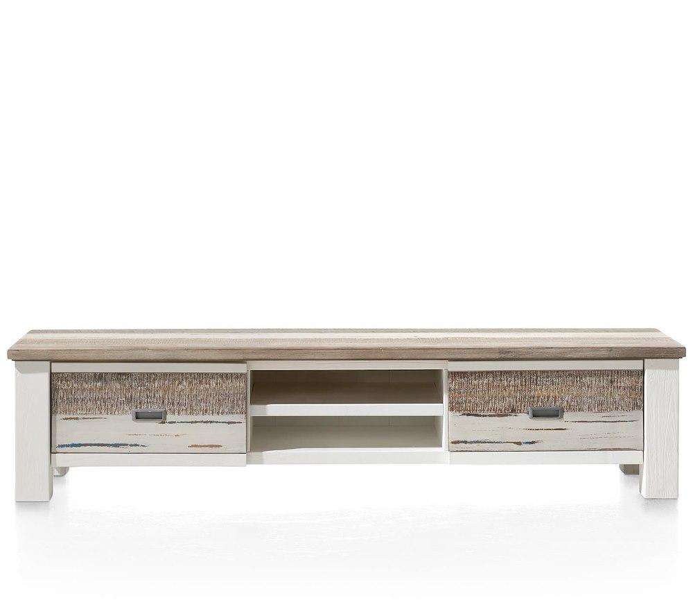 Tibro meuble tv 1 tiroir 1 porte rabattante 2 niches for Code meubles concept