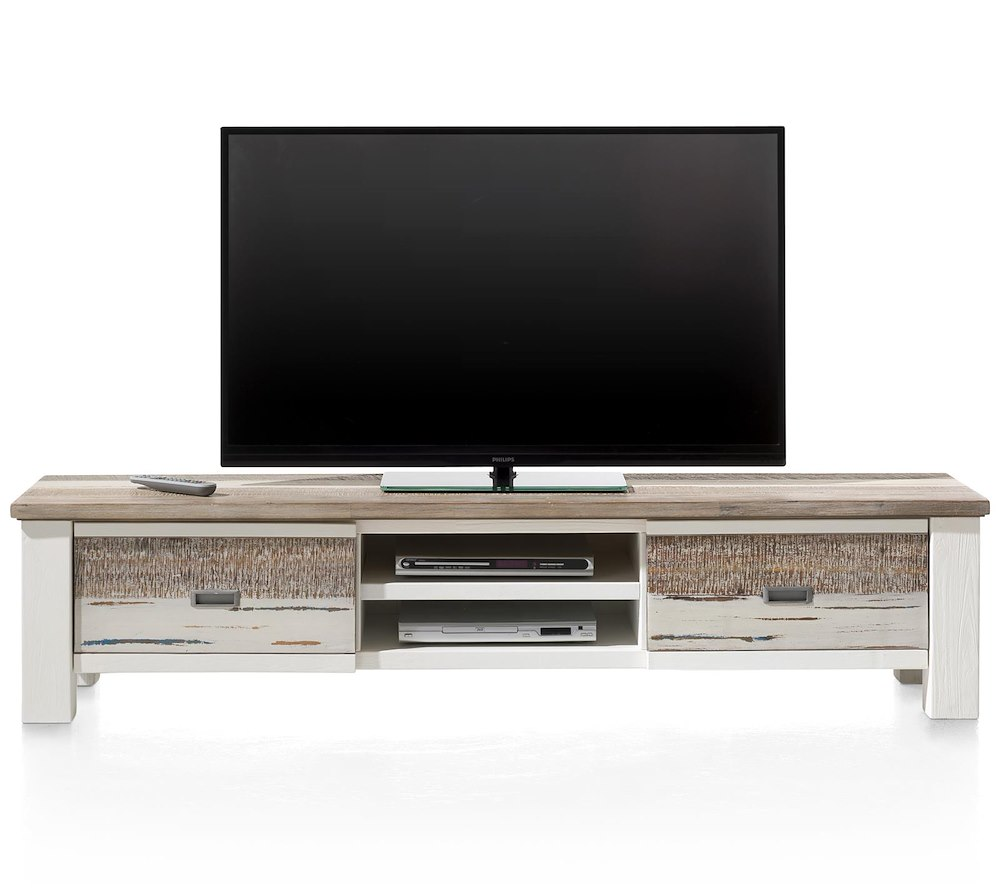 meuble tv tibro 1 tiroir 1 porte rabattante 2 niches heth. Black Bedroom Furniture Sets. Home Design Ideas