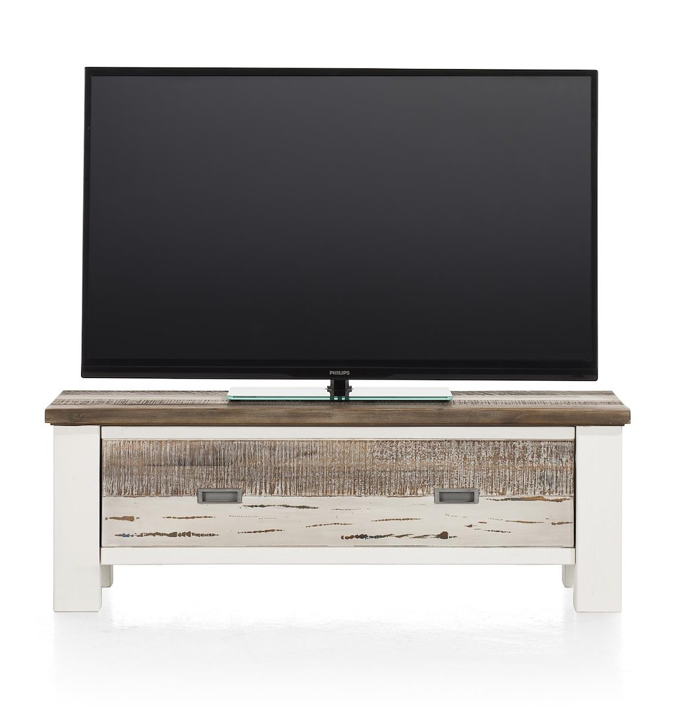 meuble tv tibro 1 porte rabattante 115 cm heth. Black Bedroom Furniture Sets. Home Design Ideas