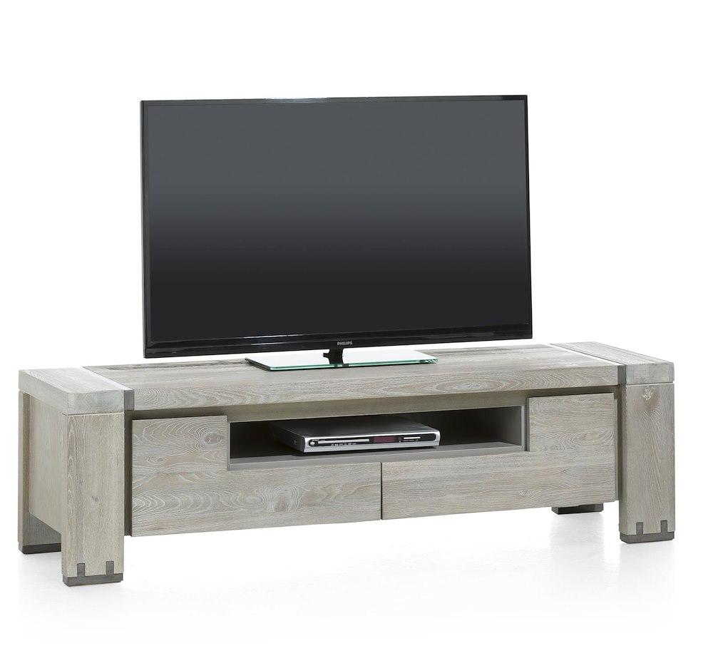 meuble tv avola 2 portes rabattantes 1 niche 160cm heth. Black Bedroom Furniture Sets. Home Design Ideas