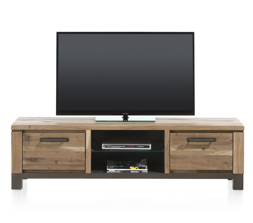 Falster meuble tv 1 tiroir 1 porte rabattante 2 for Meuble tv 170 cm