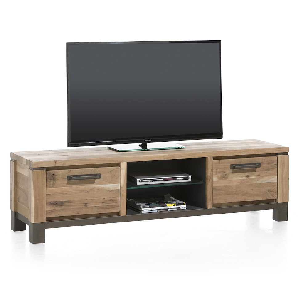 falster meuble tv 1 tiroir 1 porte rabattante 2 niches 170 cm. Black Bedroom Furniture Sets. Home Design Ideas