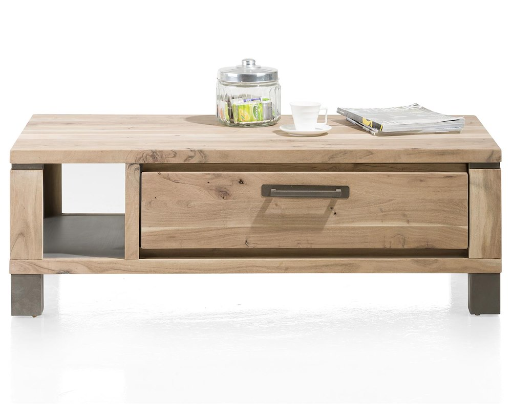table basse 120 x 60 cm 1 tiroir 1 niche falster. Black Bedroom Furniture Sets. Home Design Ideas