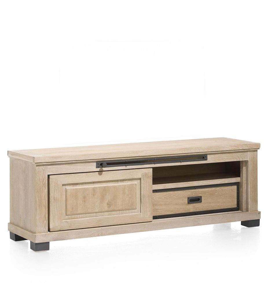 meuble tv atelier 1 porte coulissante 160cm heth. Black Bedroom Furniture Sets. Home Design Ideas