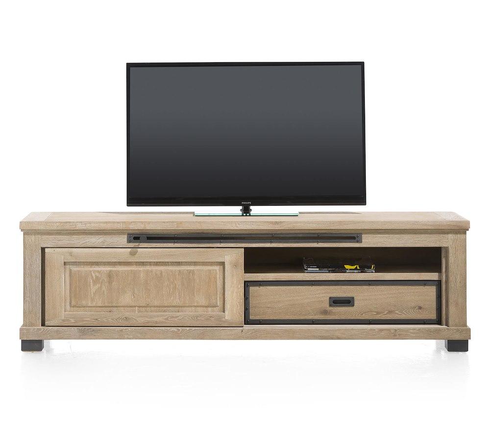 Meuble tv atelier 1 porte coulissante 1 tiroir heth - Meuble tv porte coulissante ...