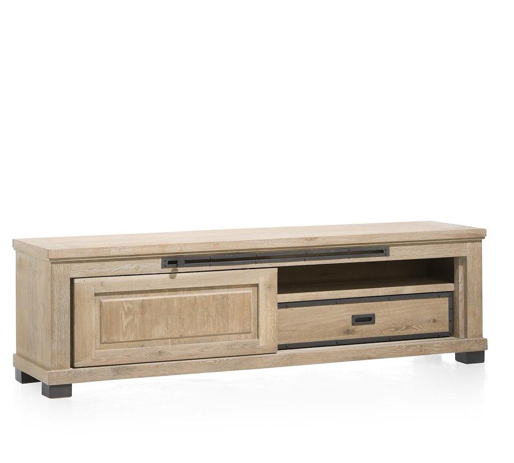 Atelier meuble tv 1 porte coulissante 1 tiroir 1 for Meuble tv porte coulissante ikea