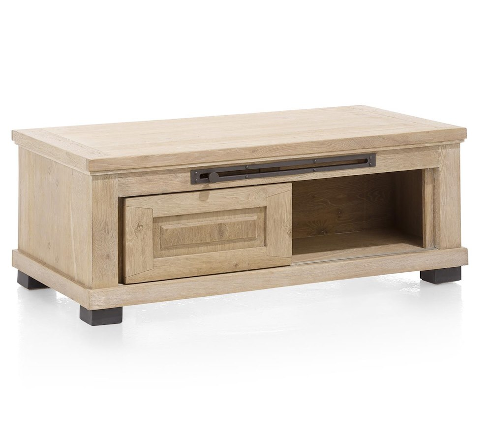 Atelier coffee table 120 x 60 cm 2 sliding doors 1 niche for 1 x 2 table