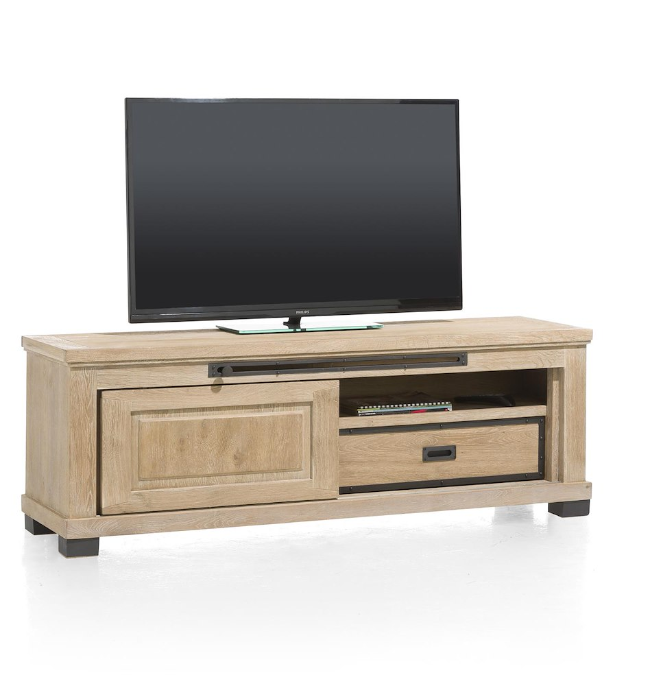 atelier meuble tv 1 porte coulissante 1 tiroir 1 niche 160 cm. Black Bedroom Furniture Sets. Home Design Ideas