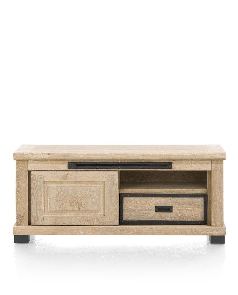 Atelier tv sideboard 1 sliding door 1 drawer 1 niche for Sideboard qr
