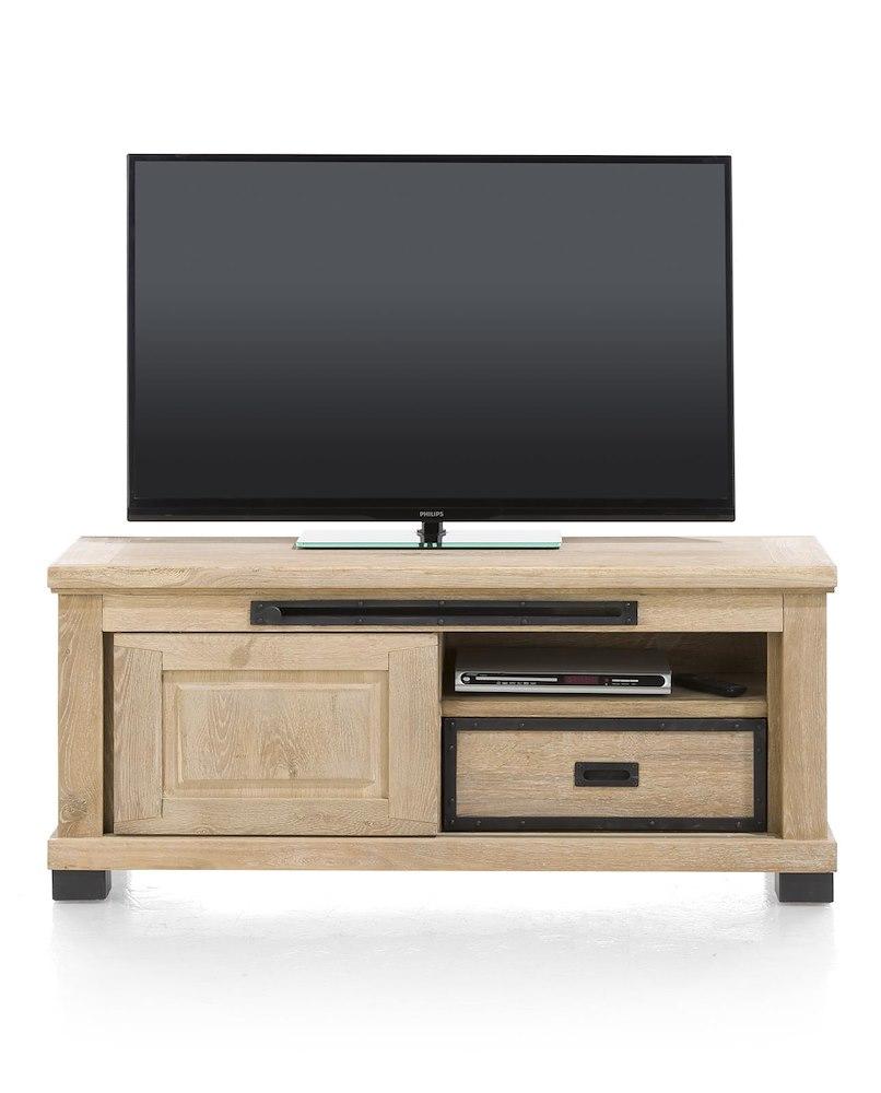 Meuble tv atelier 1 porte coulissante 130cm heth - Meuble tv porte coulissante ...