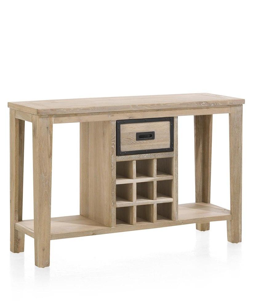 atelier console 120 x 40 cm 1 tiroir 9 niches pour bouteilles. Black Bedroom Furniture Sets. Home Design Ideas