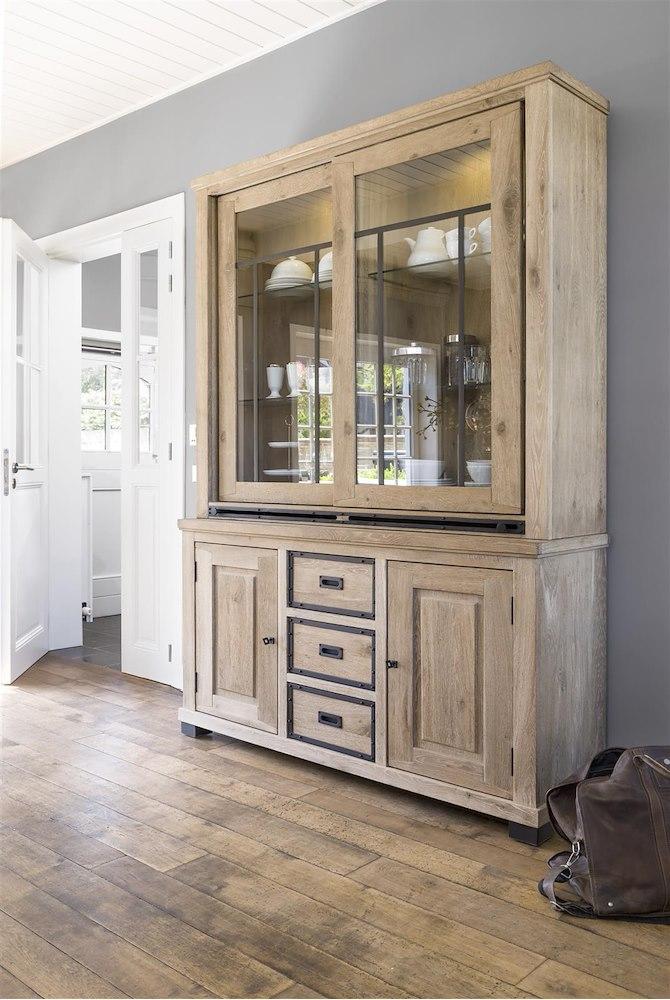 vaisselier atelier 2 portes coulissantes en verre heth