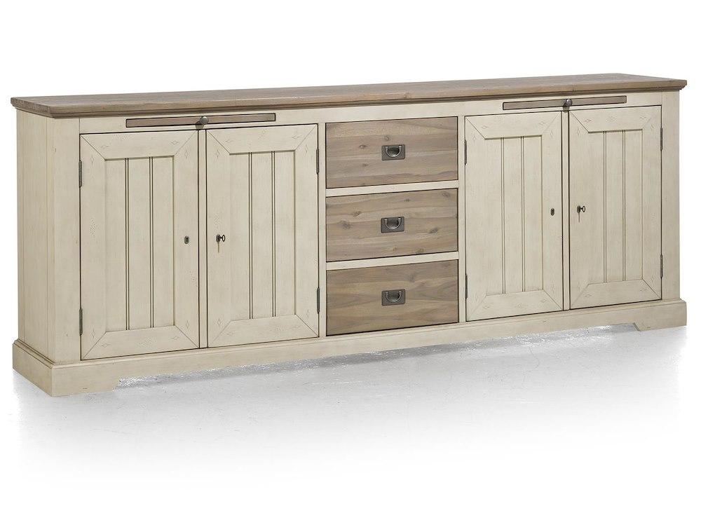 le port buffet 4 portes 3 tiroirs 2 plateaux 240 cm. Black Bedroom Furniture Sets. Home Design Ideas