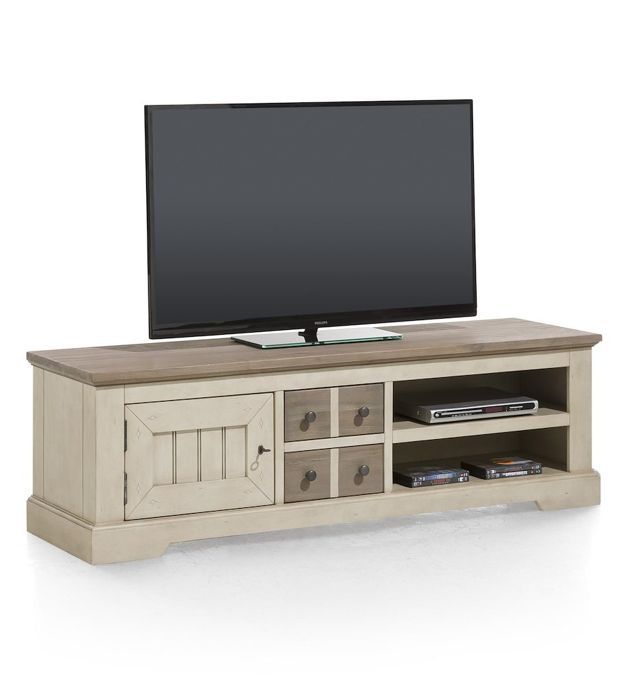 le port meuble tv 1 porte 2 tiroirs 2 niches 160 cm. Black Bedroom Furniture Sets. Home Design Ideas