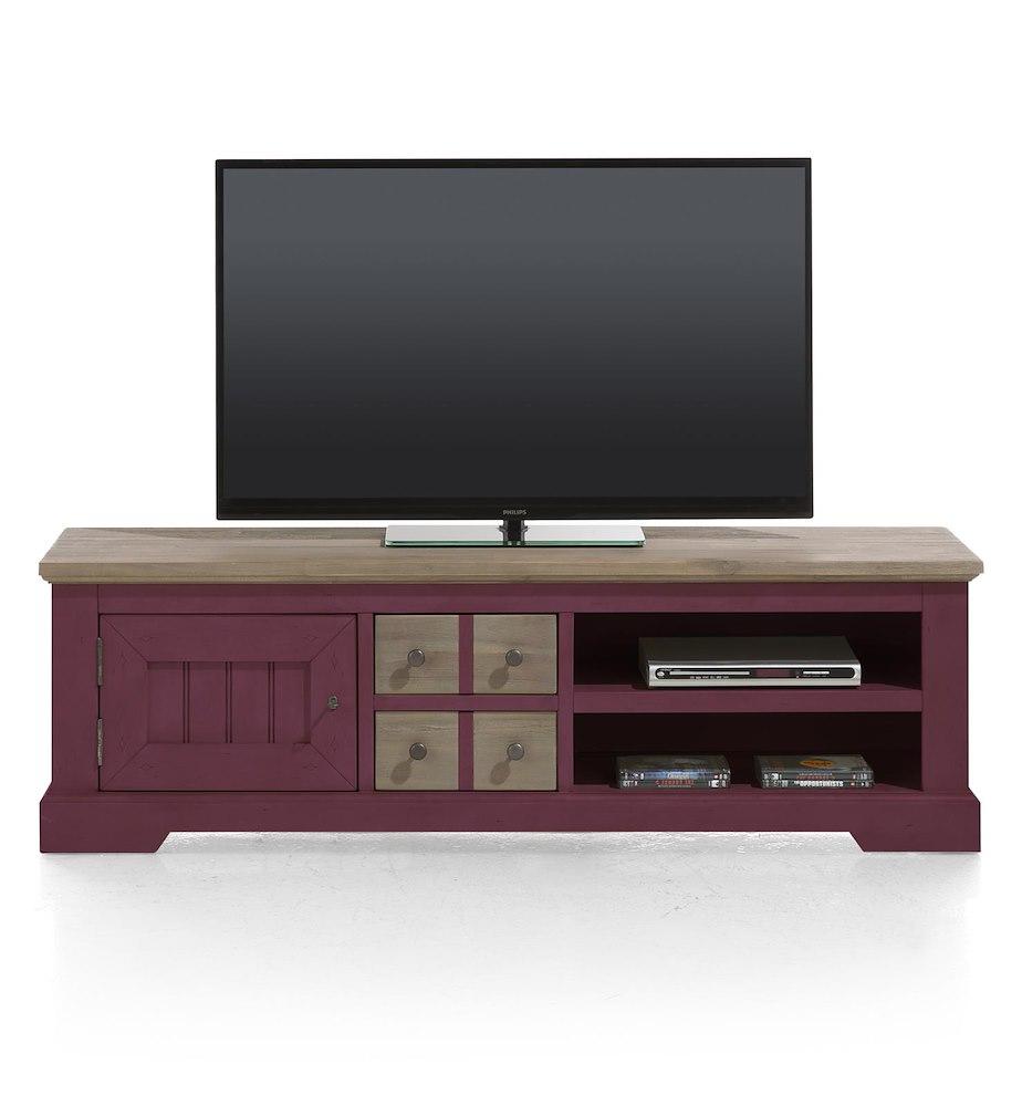 meuble tv le port 1 porte 2 tiroirs 2 niches 160 cm heth. Black Bedroom Furniture Sets. Home Design Ideas