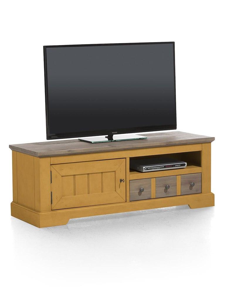 meuble tv bois d 39 acacia le port 140x50 cm heth. Black Bedroom Furniture Sets. Home Design Ideas