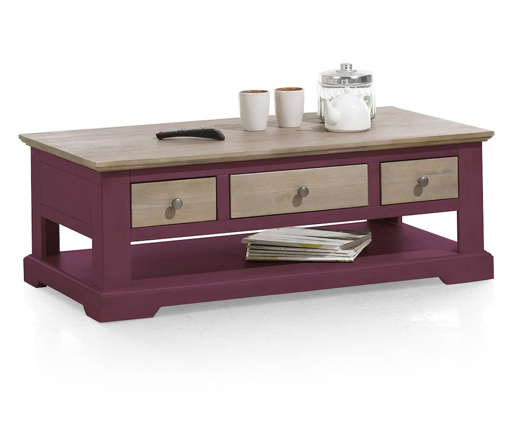 table basse de salon en bois le port 120x60 cm heth. Black Bedroom Furniture Sets. Home Design Ideas