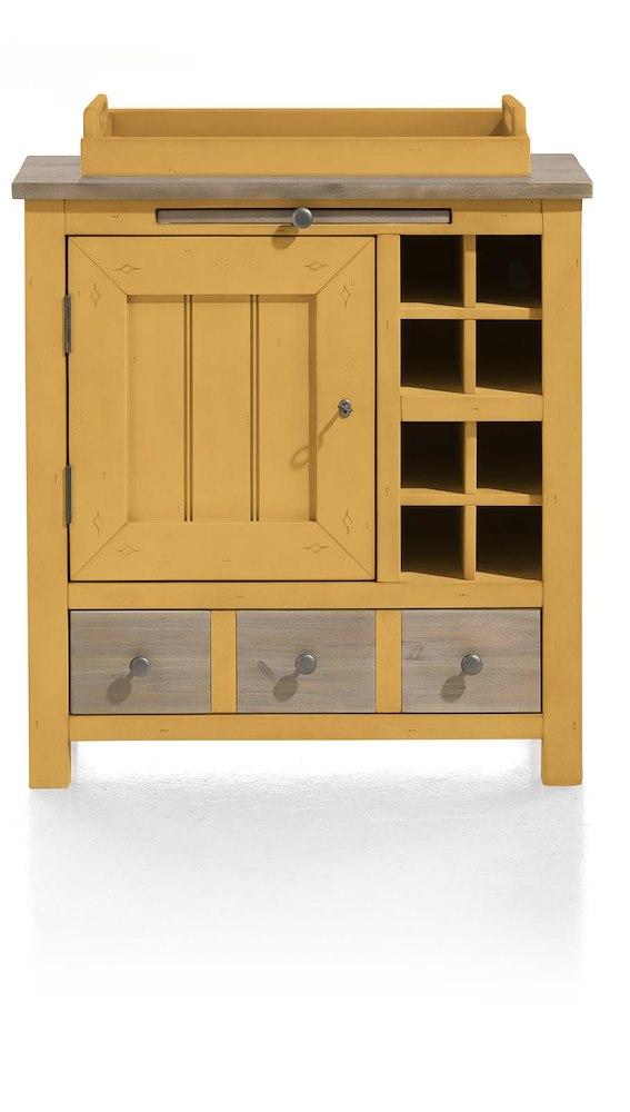 armoire le port 1 porte 1 tiroir 1 plateau 79cm heth. Black Bedroom Furniture Sets. Home Design Ideas