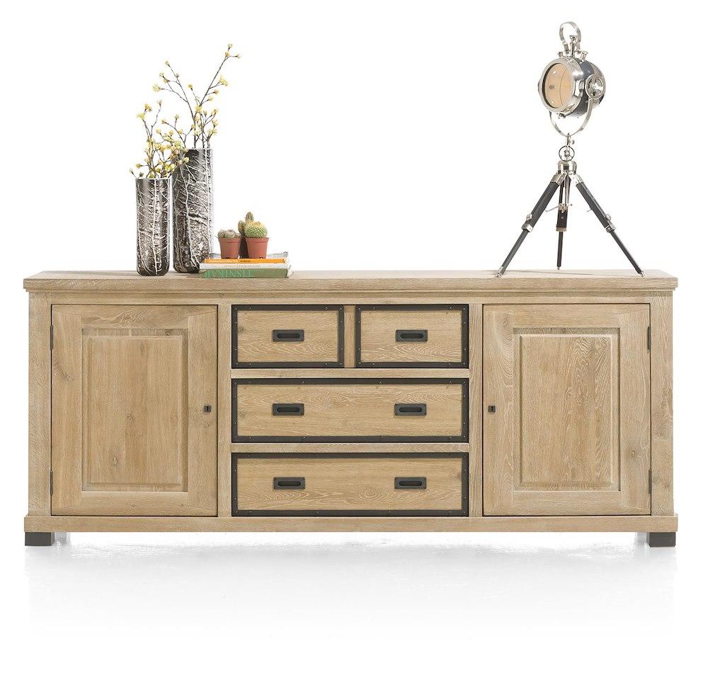 atelier buffet 2 portes 3 tiroirs 220cm. Black Bedroom Furniture Sets. Home Design Ideas