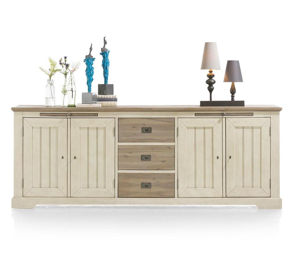 buffet 240cm 4 portes 3 tiroirs 2 plateaux le port heth. Black Bedroom Furniture Sets. Home Design Ideas