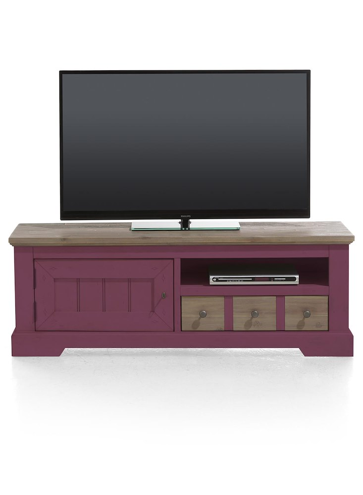 meuble tv le port 140x50cm henders hazel. Black Bedroom Furniture Sets. Home Design Ideas
