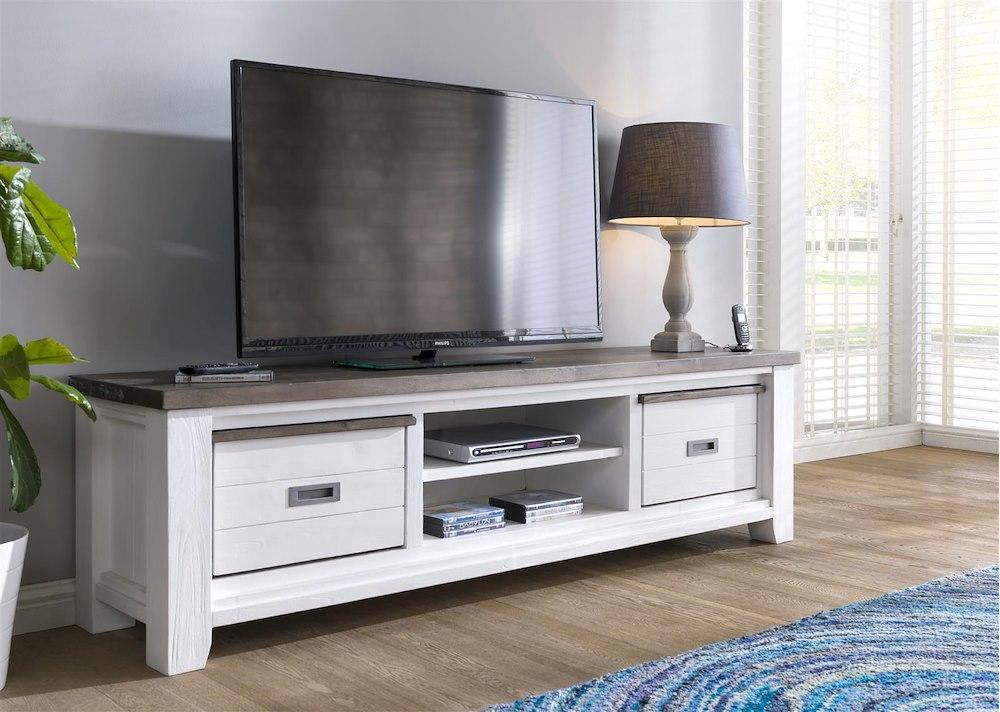 velasco meuble tv 2 corbeilles 2 niches 190 cm. Black Bedroom Furniture Sets. Home Design Ideas