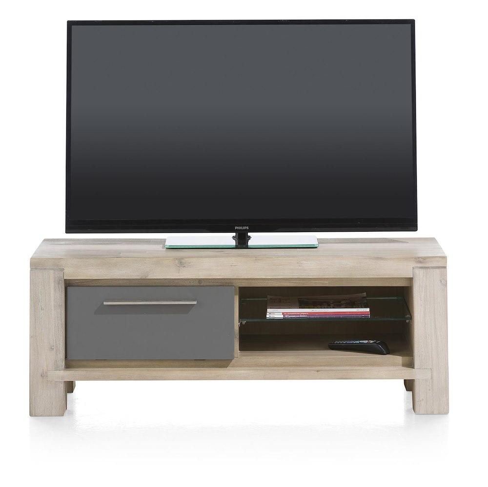 meuble tv en bois multiplus 120x42cm henders hazel. Black Bedroom Furniture Sets. Home Design Ideas
