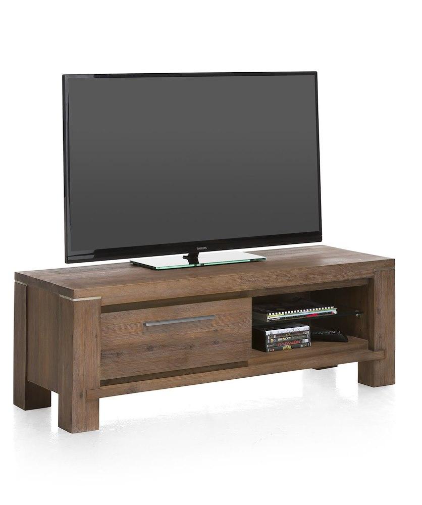 Meuble tv en bois multiplus 120x42cm henders hazel for Code meubles concept