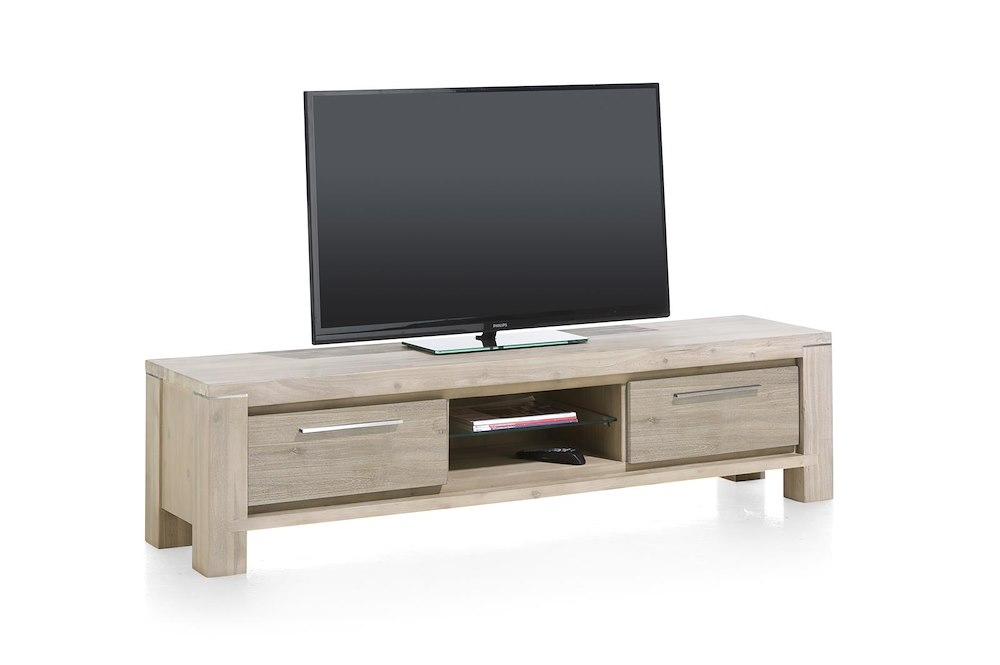 meuble tv moderne en bois multiplus 180x45 cm heth. Black Bedroom Furniture Sets. Home Design Ideas