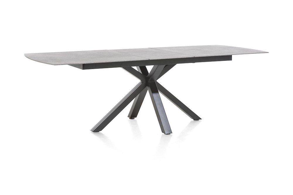 multiplus table a rallonge 200 60 x 100 cm stone glass. Black Bedroom Furniture Sets. Home Design Ideas