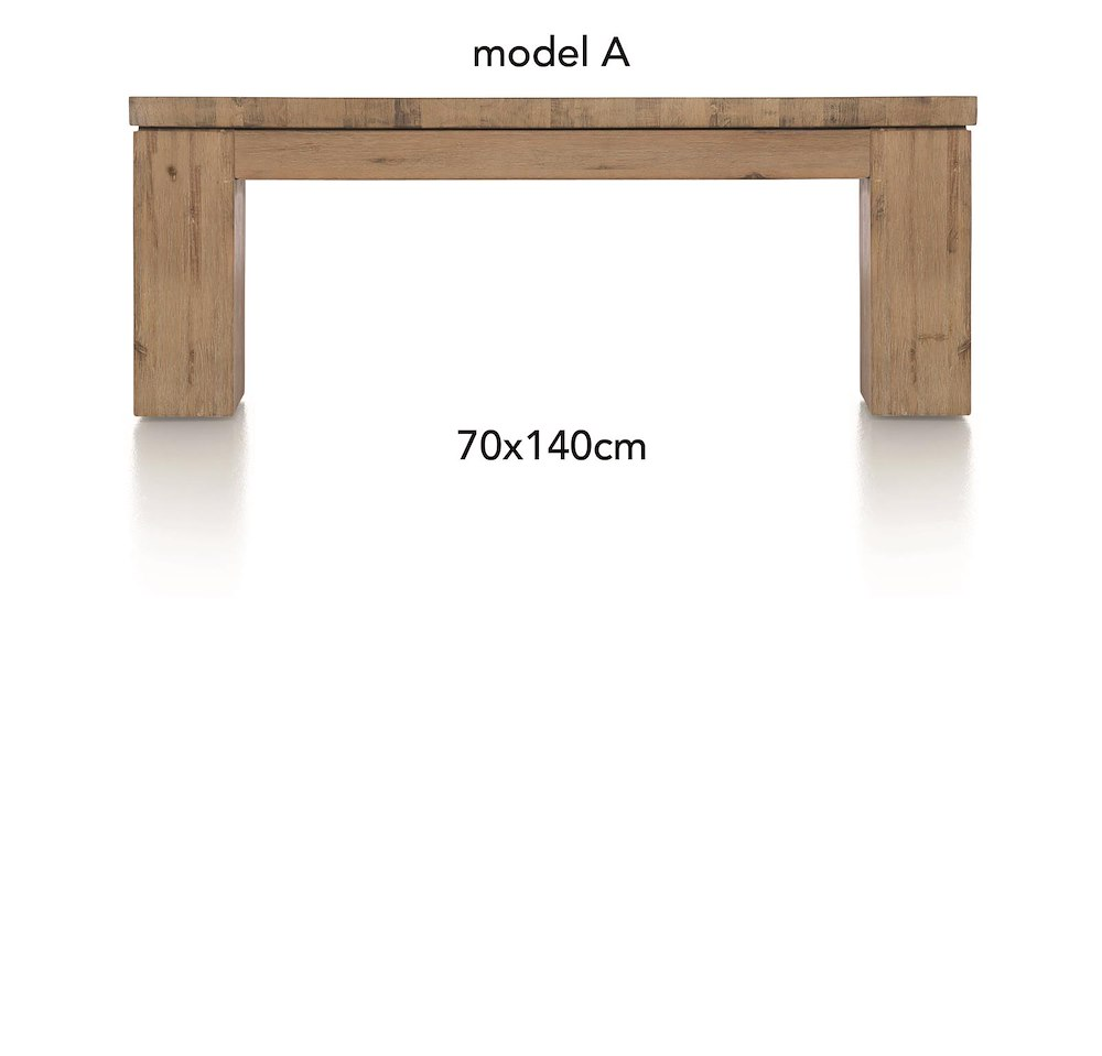 A la carte coffee table 140 x 70 cm aad for Table 140 x 70