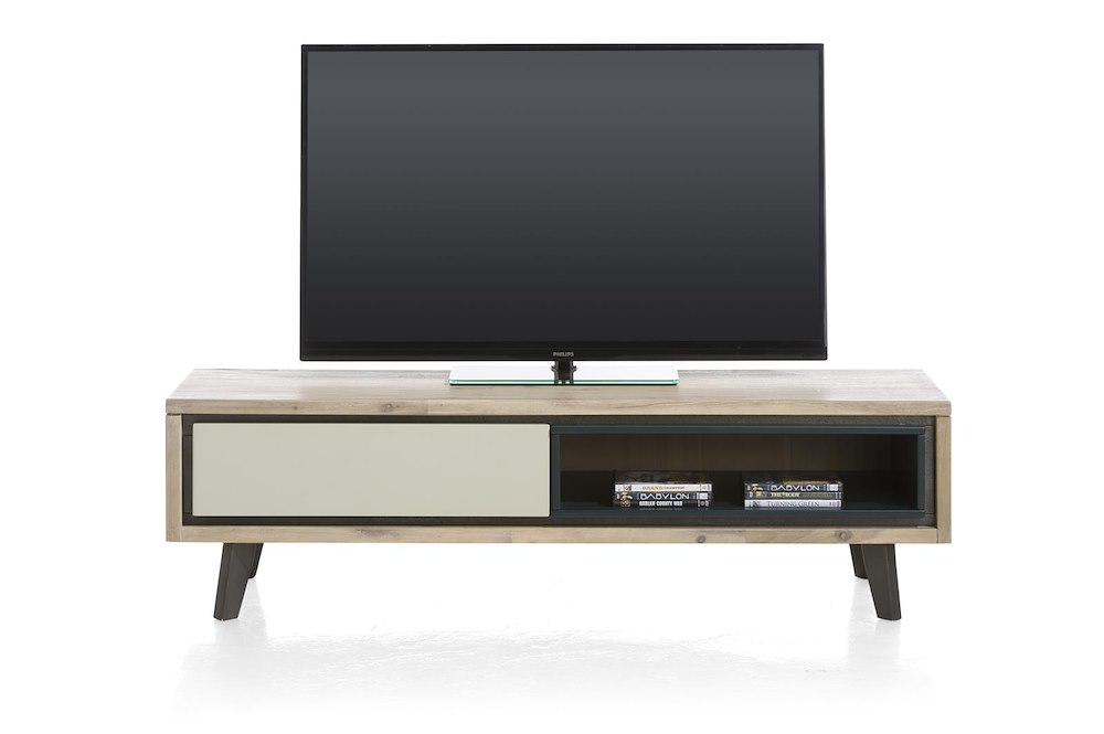jade meuble tv 1 porte rabattante 1 niche 150 cm. Black Bedroom Furniture Sets. Home Design Ideas