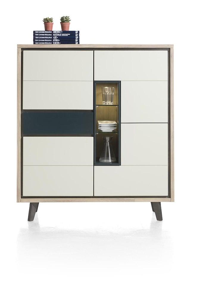 jade highboard 4 portes 1 tiroir 3 niches led. Black Bedroom Furniture Sets. Home Design Ideas