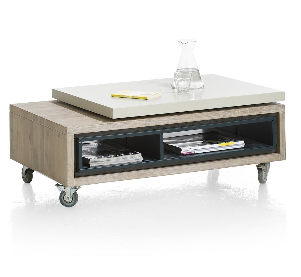 Jade coffee table 100 20 x 60 cm 2 niches - Table largeur 60 cm ...