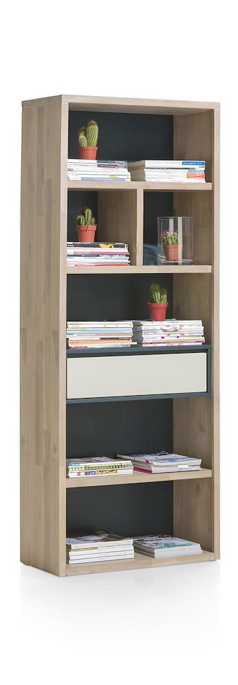Biblioth Que 75cm 1 Tiroir 6 Niches Jade Heth