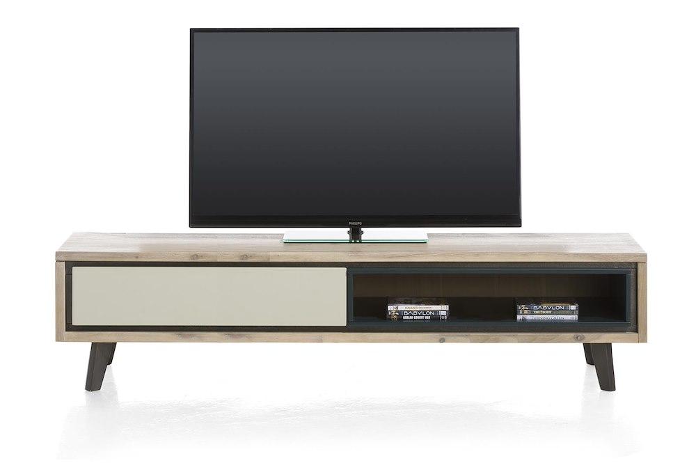 Jade meuble tv 1 porte rabattante 1 niche 180 cm for Meuble tv 180