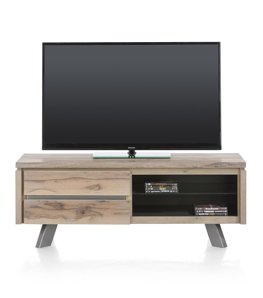 Meuble tv moderne ermont 130x45 cm heth for Meuble tv 30 cm